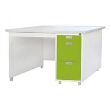 โต๊ะสำนักงาน DX หน้าโต็ะเหล็กพ่นสีอีพ็อกซี่(EPOXY) ขนาด 3 ฟุตDX-35