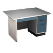 โต๊ะสำนักงานkiosk ขนาด 3.5 ฟุต หน้าเหล็ก