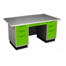 โต๊ะสำนักงานkiosk ขนาด 4.5 ฟุต หน้าเหล็ก